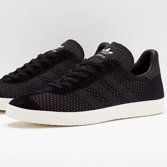 New 1 Adidas Gazelle Primeknit Black